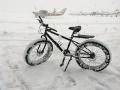 Snow Building Up, Awaiting a Rider