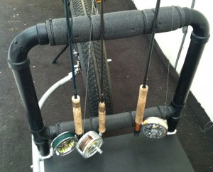 optional fly rod rack