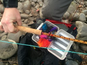 Spey rod and Spey flies