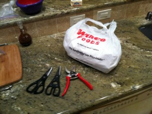 Most crab looses the fight to sharp scissors and garden clipper used only in the kitchen
