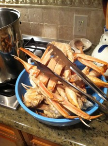 Snow crab ready for cleaning.