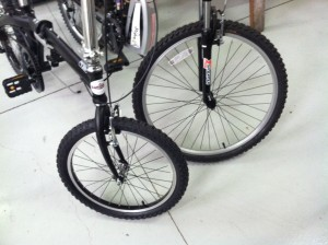A outstanding option: Mtn. BIke, Wire Bead Bicycle Tire, Blackwall, 20-Inch x 2.125-Inch same as the 26 inch tire on a full size bike.