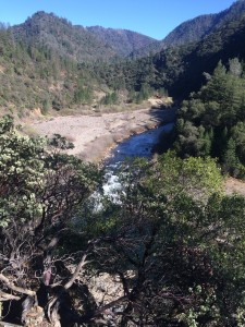 A remote section of the American River