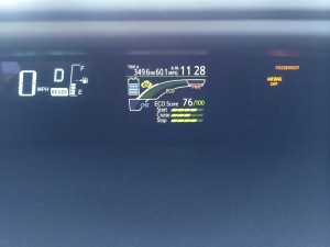 "60.1 MPG  ""on fumes"" at 65 MPH with air!!"