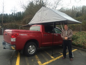 Maker Doug Kulick in Seattle with the newly installed Nomad 160